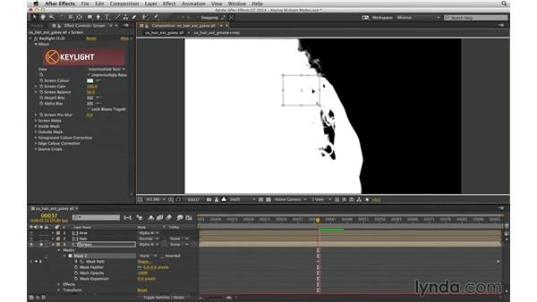 Track a c-matte to fill holes: After Effects Compositing 04: Color Keying