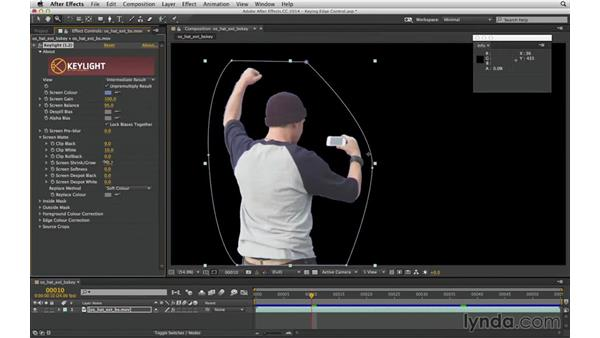 Create an animated g-matte selection without roto or keyframes: After Effects Compositing 04: Color Keying