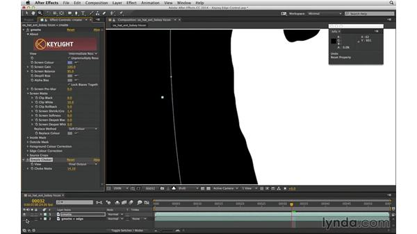 Complete a three-pass key with core and edge mattes: After Effects Compositing 04: Color Keying