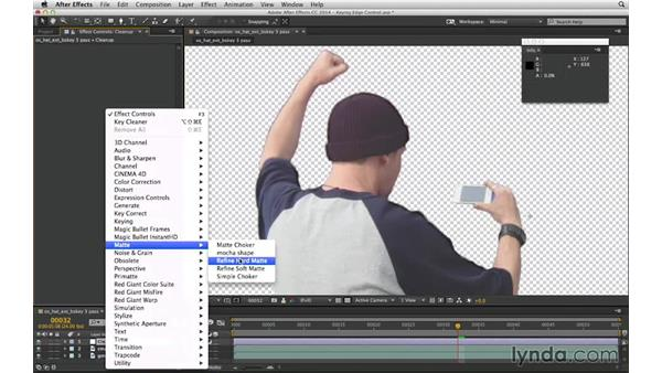 Solve matte lines with Refine Hard Matte: After Effects Compositing 04: Color Keying