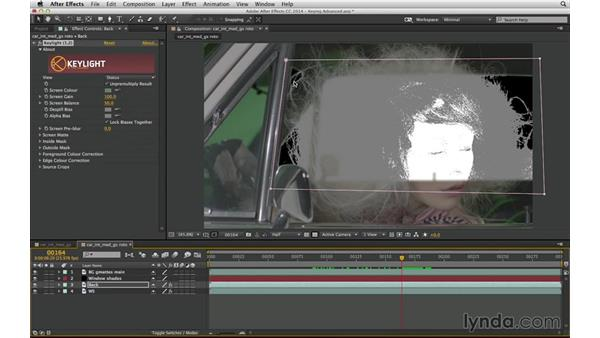 Think beyond keying: Solve a shot with keying and roto: After Effects Compositing 04: Color Keying