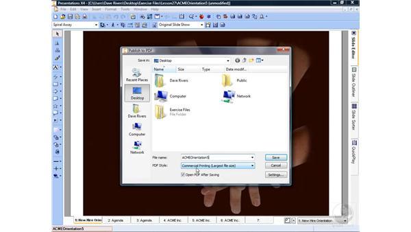 Publishing to PDF: WordPerfect Office X4 Essential Training