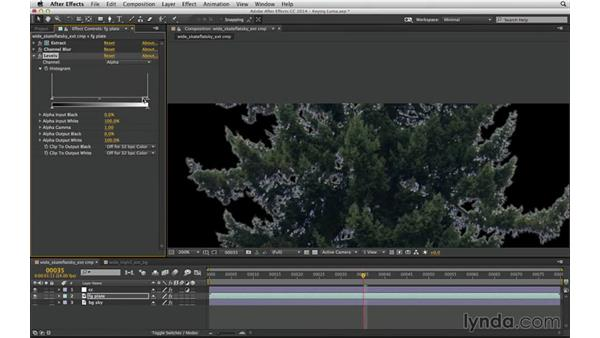 Feather edges with Channel Blur: After Effects Compositing 04: Color Keying