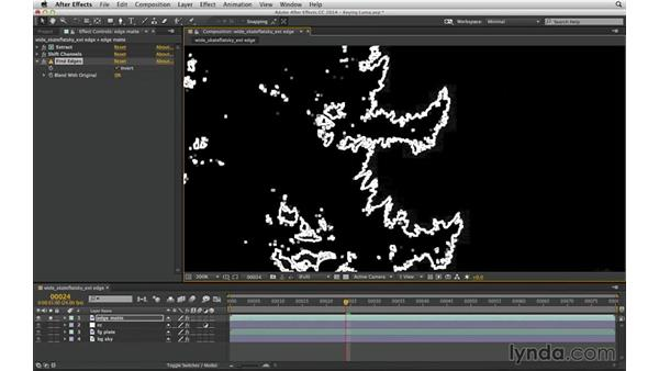 Conceal matte lines with an edge matte: After Effects Compositing 04: Color Keying