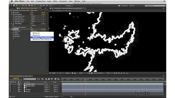 Expand and contract a luma matte with Minimax: After Effects Compositing 04: Color Keying