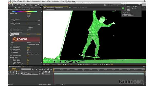 Prep a shot for keying: After Effects Compositing 04: Color Keying