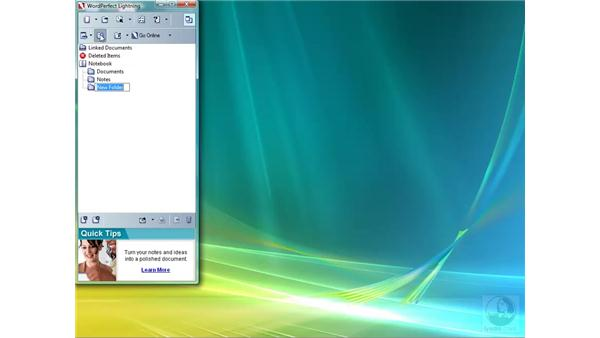 Creating folders in Lighting: WordPerfect Office X4 Essential Training