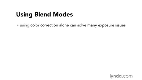 Introduction to using blend modes to correct underexposure problems: Video Post Tips Weekly