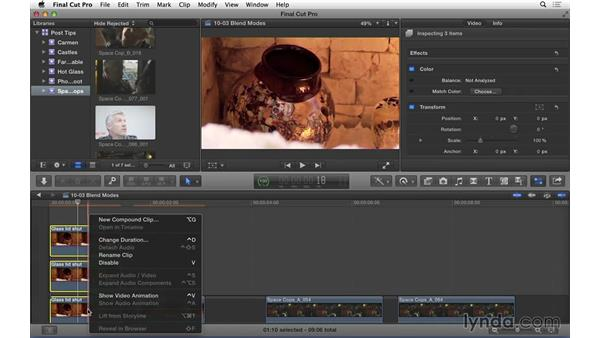 Using blend modes to correct underexposure in Final Cut Pro X: Video Post Tips Weekly