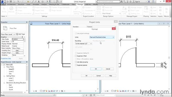 Working with imperial vs. metric units: Creating Revit Templates: System Settings