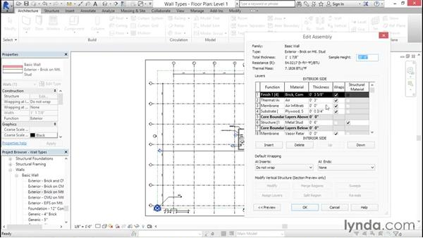 Managing wall types: Creating Revit Templates: System Settings