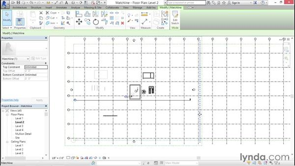 Establishing matchlines: Creating Revit Templates: System Settings