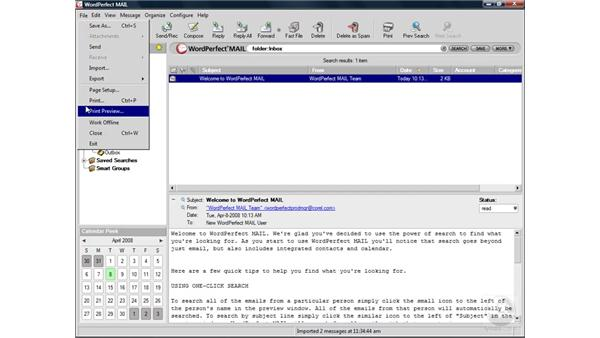 Exploring the interface: WordPerfect Office X4 Essential Training