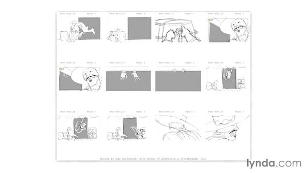 The differences between live-action and animation storyboards: Toon Boom Storyboard Pro Essential Training