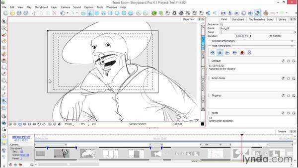 Stage view grids: Toon Boom Storyboard Pro Essential Training