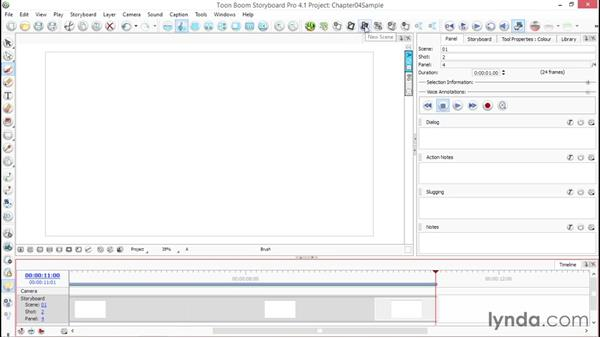 Setting default times for new panels: Toon Boom Storyboard Pro Essential Training