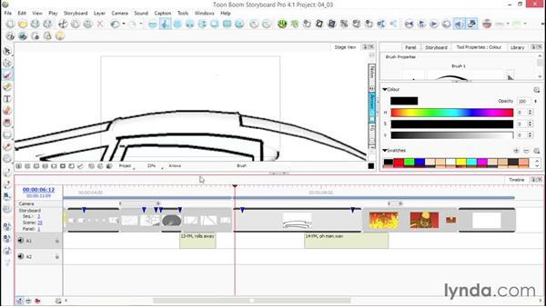 Adding audio tracks: Toon Boom Storyboard Pro Essential Training