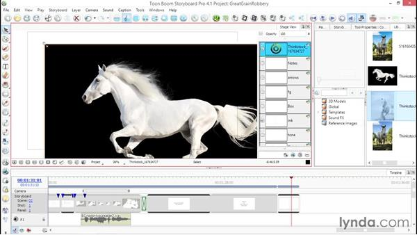 Importing an image as a layer or scene: Toon Boom Storyboard Pro Essential Training