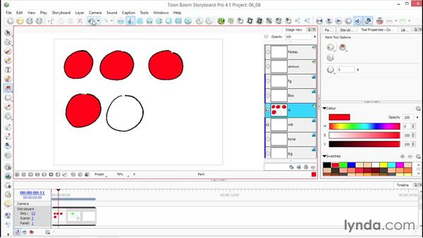 Working with paint (fill): Toon Boom Storyboard Pro Essential Training