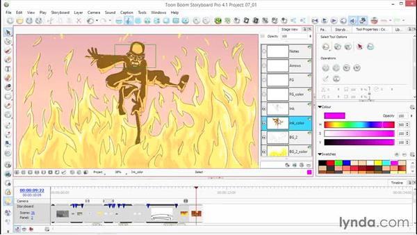 Select elements of your drawing: Toon Boom Storyboard Pro Essential Training