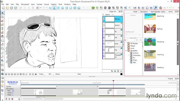 What are libraries, and how do you use them?: Toon Boom Storyboard Pro Essential Training