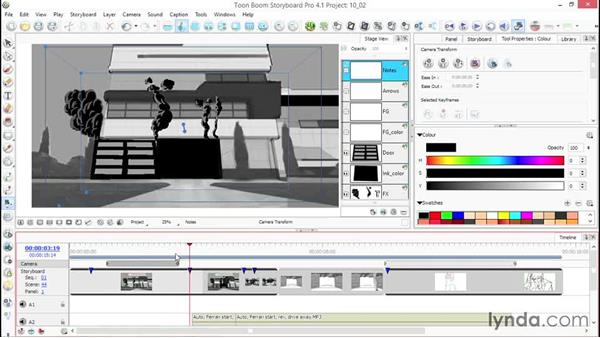 Editing camera motion: Toon Boom Storyboard Pro Essential Training