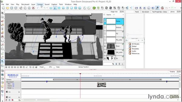Resetting the camera: Toon Boom Storyboard Pro Essential Training