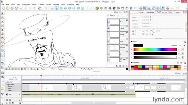 Editing Layer Transform: Toon Boom Storyboard Pro Essential Training
