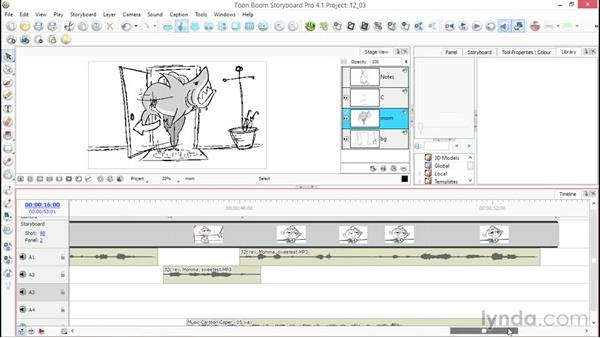 Editing audio: Toon Boom Storyboard Pro Essential Training