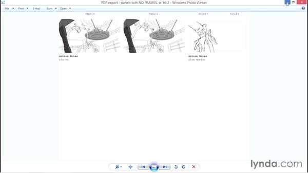 Exporting to PDF: Toon Boom Storyboard Pro Essential Training