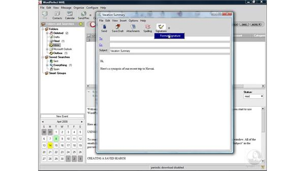 Sending attachments: WordPerfect Office X4 Essential Training