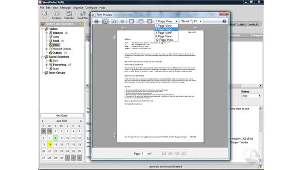 Printing messages: WordPerfect Office X4 Essential Training