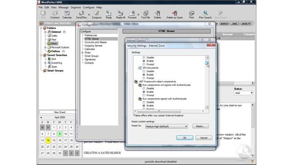 Adjusting security settings: WordPerfect Office X4 Essential Training