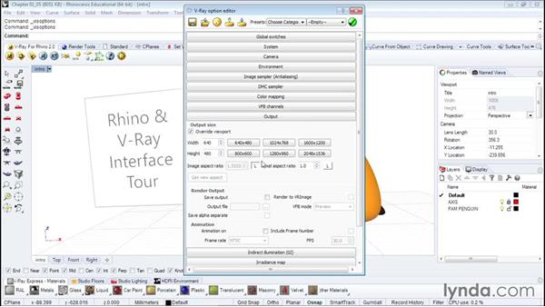 A quick tour of the rendering interface: Architectural Rendering with Rhino and V-Ray