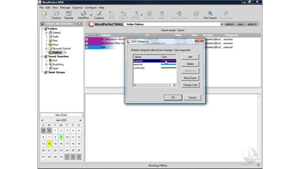 Grouping messages: WordPerfect Office X4 Essential Training