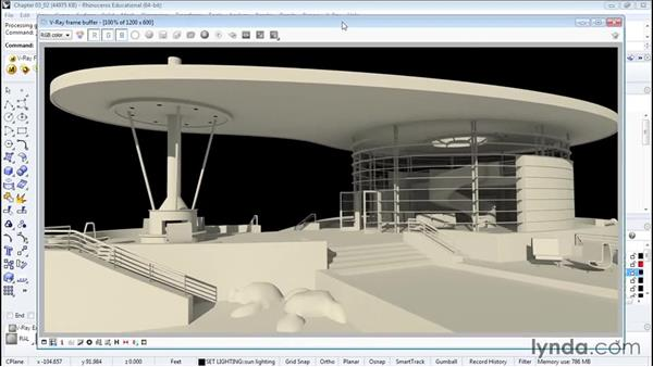 Lighting with the Sun system: Architectural Rendering with Rhino and V-Ray