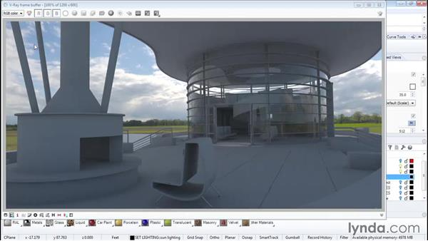 Dome lighting with HDR images: Architectural Rendering with Rhino and V-Ray