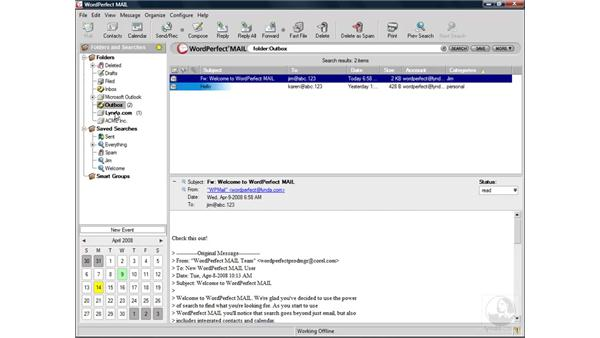 Storing messages: WordPerfect Office X4 Essential Training