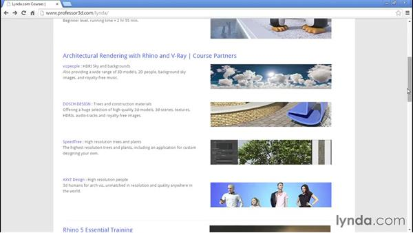 Additional resources to check out: Architectural Rendering with Rhino and V-Ray