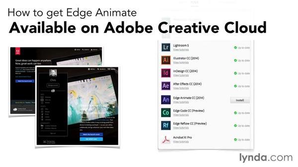 How do I get the software?: Edge Animate Essential Training