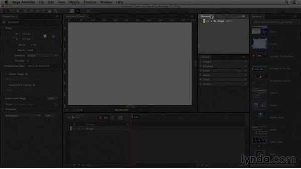 Understanding the interface: Edge Animate Essential Training