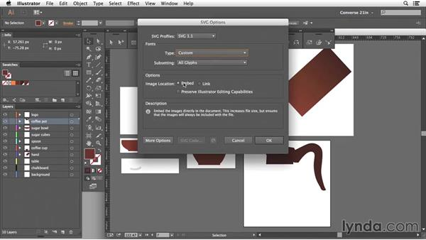 Creating web graphics from Illustrator: Edge Animate Essential Training