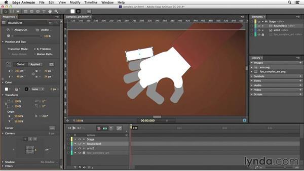 Creating complex artwork: Edge Animate Essential Training