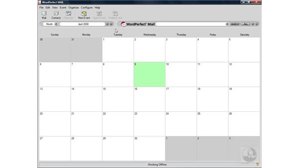 Viewing and navigating calendars: WordPerfect Office X4 Essential Training