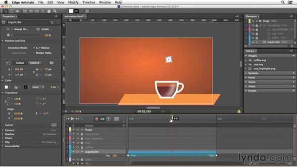 Animating elements: Edge Animate Essential Training