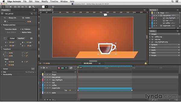 Animating with the Toggle Pin: Edge Animate Essential Training