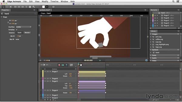 Creating an animated symbol: Edge Animate Essential Training