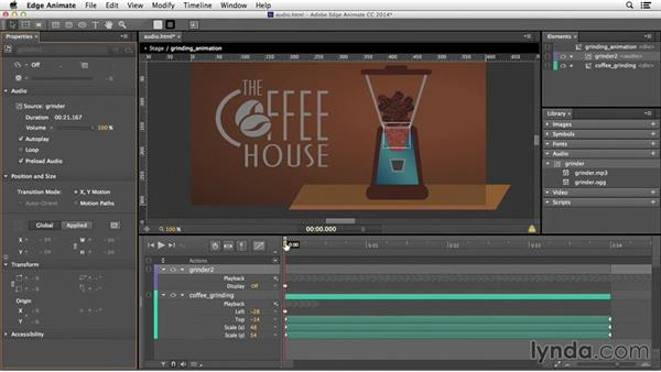 Combining audio with animation: Edge Animate Essential Training