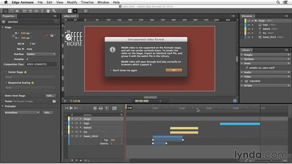 Combining video with animation: Edge Animate Essential Training