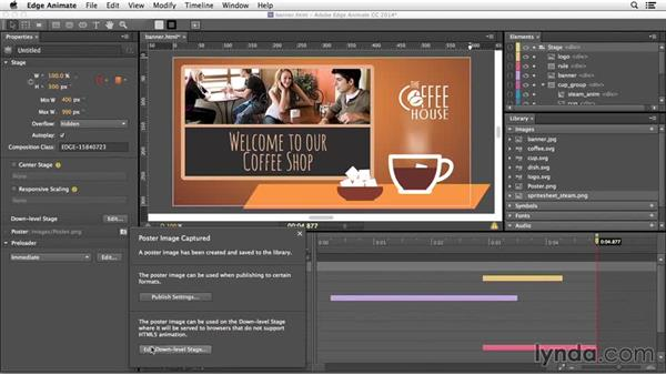 Creating a down-level stage for older browsers: Edge Animate Essential Training